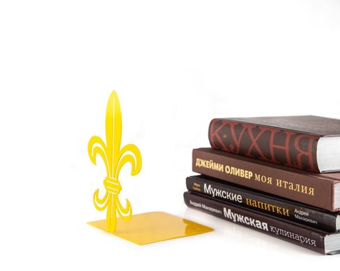Unique bookends «French Lily» Yellow color by Atelier Article