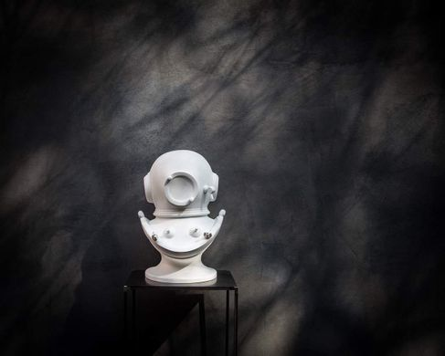 Diving helmet bust // Diver in a helmet sculpture by Atelier Article, White