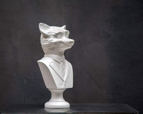 Fox Bust // Modern sculpture // Animal head by Atelier Article