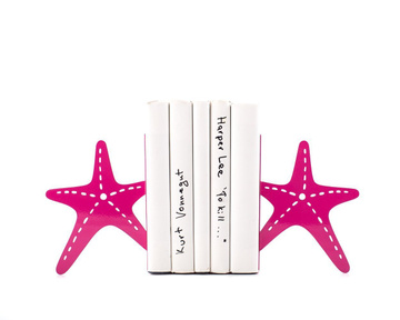 "Metal Bookends ""Sea stars by Atelier Article, Red"