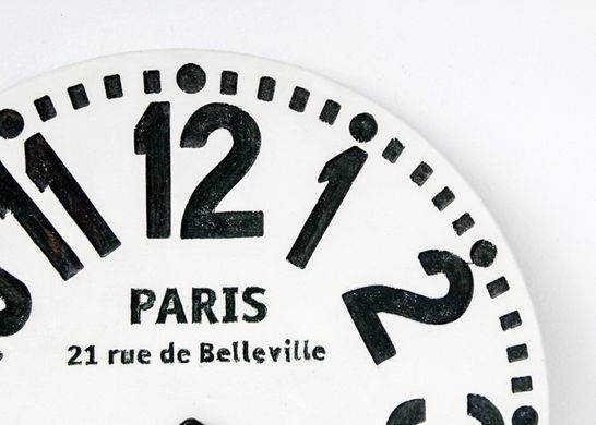 "Wall clock ""Paris"" Black and white edition by Atelier Article, Assorted"
