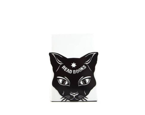 "One metal bookend ""Cats Read Books"" by Atelier Article, Black"