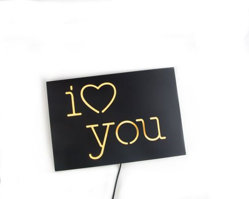Neon Sign//  I love you // led technology // Wall Art // by Atelier Article, Yellow