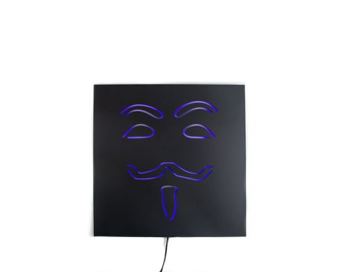Man cave Decor Wall Light Neon Sign Anonymous by Atelier Article, Navy