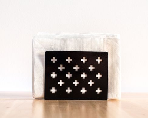 Napkin holder-dispenser Black Swiss Crosses by Article