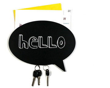 Wooden Wall Organizer // Key holder on a magnet  // HELLO // by Atelier Article, Black