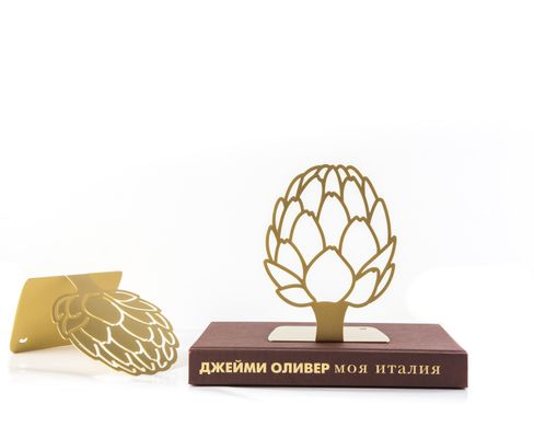 Kitchen bookends «Artichoke» Golden edition by Atelier Article, Golden