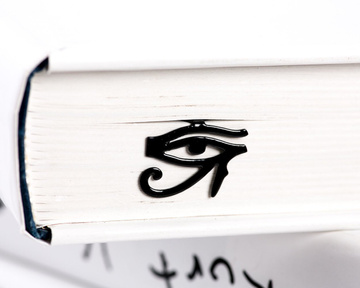 "Metal Bookmark for books ""Eye in the sky"" by Atelier Article, Black"