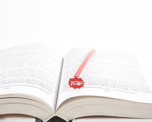 "Metal Bookmark ""Speech Bubble Pow Red"" by Atelier Article, Red"