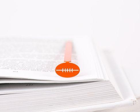 "Metal Bookmark ""Football/rugby"" by Atelier Article, Red"
