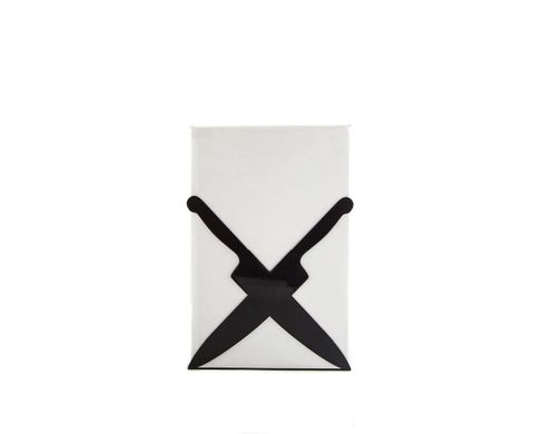 Kitchen bookend Crossed Knives // kitchen shelf decor by Atelier Article