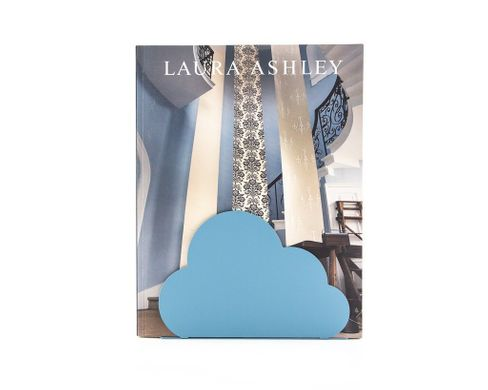 "One metal bookend ""Cloud"" by Atelier Article, Blue"