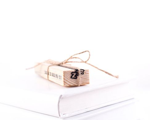 "Metal Bookmark ""Zzz // Sleep"" by Atelier Article, Black"