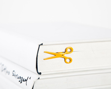 "Metal Bookmark ""Scissors"" by Atelier Article, Yellow"