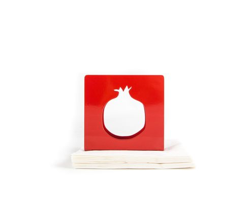 Unique napkin holder / Pomegranate / red napkin dispenser / by Atelier Article, Red