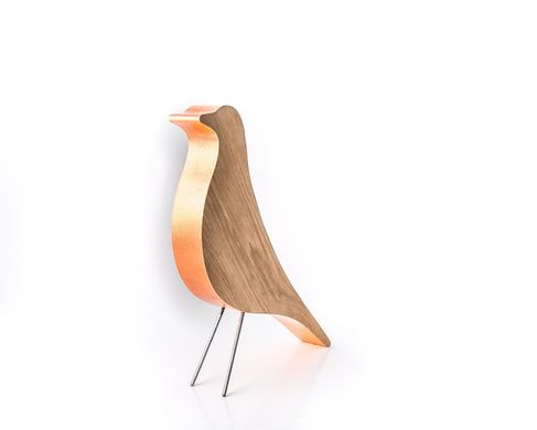 MidCentury Inspired Wooden Birdie // Eames Like Design, This Little Bird Sits on a Shelf or Counter