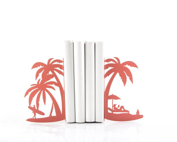 Metal Bookends «On the Beach» by Atelier Article, Pink