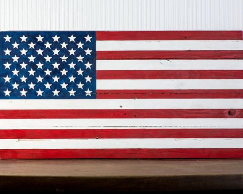 Wall art // USA flag // wooden carved edition // by Atelier Article, Assorted