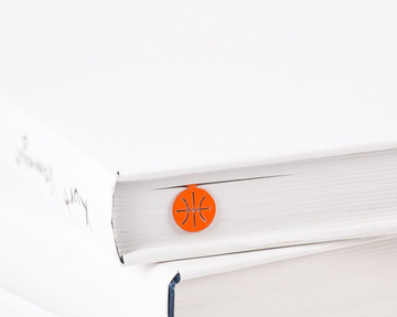 "Metal book Bookmark ""Basketball"" by Atelier Article, Red"