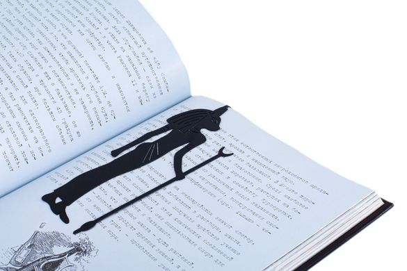 Metal Bookmark God of Death Anubis by Atelier Article, Black