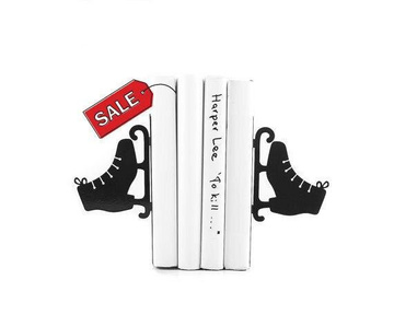 Metal Bookends / Black Ice skates / by Atelier Article, Black