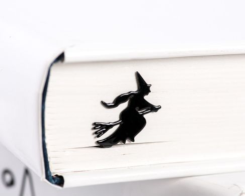 "Metal Book Bookmark ""Flying Witch"" by Atelier Article, Black"
