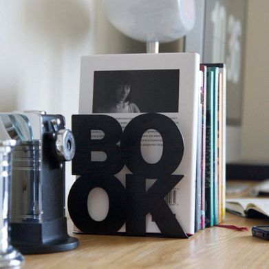 Modern stylish bookends // BookOne // Unique functional shelf decor