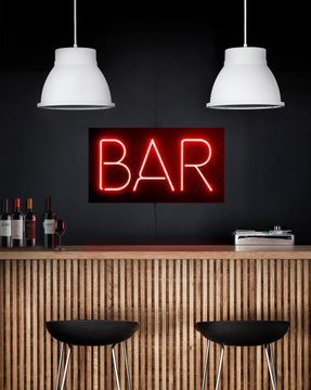 Man cave // Wall Light Neon Sign style //  BAR led technology // Wall Art // by Atelier Article, Red