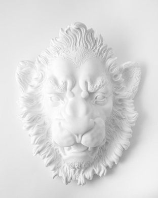 """Lion Head"" Wall decor by Atelier Article, White"