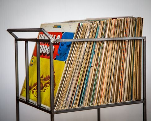 LP storage Album crate // cart // Record Crate / Holds over 80 LPs