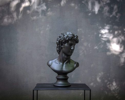 Male Bust Sculpture // Trendy ancient statue for Modern Home // Black edition by Atelier Article, Black