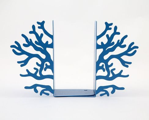 "Metal Bookends ""Corals Blue"" by Atelier Article, Blue"