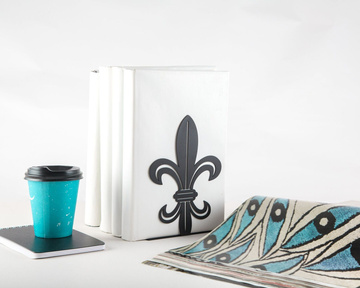 Unique bookends «French Lily» black edition by Atelier Article