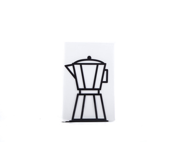Metal Kitchen bookend // Black Coffee pot // functional shelf decor by Atelier Article, Black