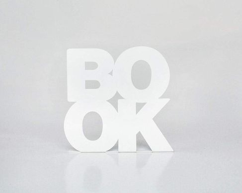 Unique Bookends «BookOne» by Atelier Article, White