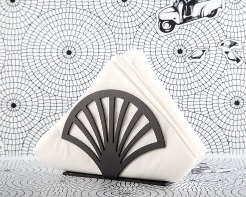 Unique napkin holder Fan By Atelier Article, Black