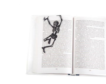 "Metal bookmark for books ""Dancing bones"" by Atelier Article, Black"