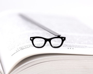 "Metal Bookmark ""Glasses"" by Atelier Article, Black"