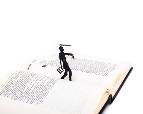 Metal Bookmark Walking Dead by Atelier Article, Black