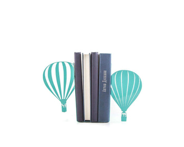 Hot Air Balloons Bookends Romantic vintage theme by Atelier Article, Green