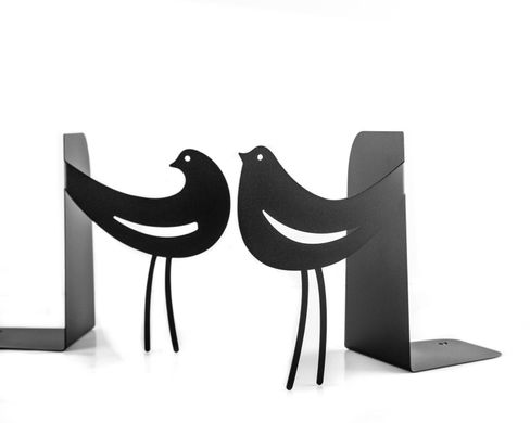Metal Bookends Interaction // functional decor for modern home // FREE SHIPPING, Black
