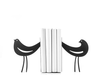 Metal Bookends «Interaction» by Atelier Article, Black