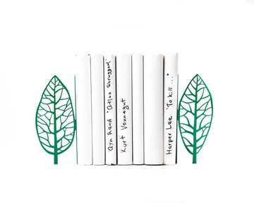 Metal «Tree Bookends» green edition. Magritte inspired bookends by Atelier Article, Green