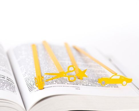 "Metal Bookmark ""Yellow STAR"" by Atelier Article, Yellow"