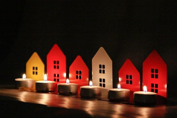 Two Candle holders - Light out of my window - // housewarming gift // Christmas gift // FREE SHIPPING WORLDWIDE