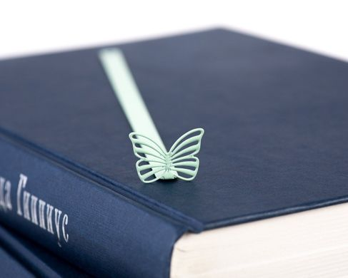 "Metal Bookmark ""Butterfly"" by Atelier Article, Green"