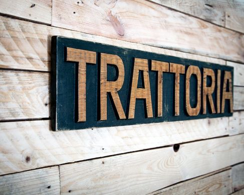 "Pseudo vintage Sign ""Trattoria"" by Atelier Article, Assorted"