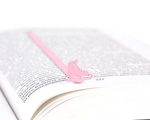 "Metal Bookmark ""Ice skates"" by Atelier Article , Pink"