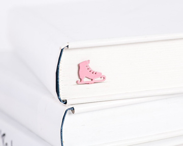 Metal Bookmark / Pink Ice skate / by Atelier Article , Pink