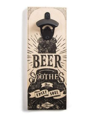 Wall Mounted Bottle Opener // Beer soothes the upset soul // by Atelier Article, Assorted